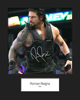 ROMAN REIGNS #2 (WWE) Signed 10x8 Mounted Photo Print - FREE DELIVERY