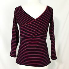Deletta Anthropologie Striped Knit Blouse L Off The Shoulder