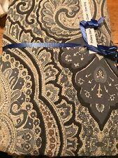 Pottery Barn Gray  Beale Paisley Cotton Full king Duvet Cover