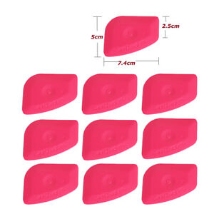 10 PCS Vinyl Squeegee Pink Decals Sticker Auto Window Tint Scraper Tools NEW