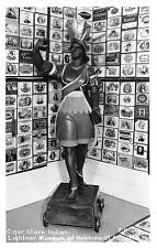 St Augustine FL Lightner Museum of Hobbies Cigar Store Indian RPPC Postcard