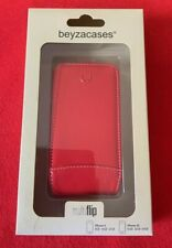 Beyzacases Red Leather Flip Case for iPhone 4 or 4S Brand New in Box