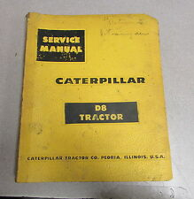 Caterpillar Cat D8 Tractor Service Repair Manual