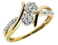 Ladies 14k Yellow Gold Forever Us Genuine Diamond Engagement Bridal Ring 0.33 Ct