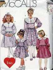 CHILDS DRESS SEWING Pattern Sz 3 - 4 - 5 Use Organza VOILE Tafetta LINEN