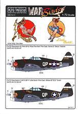 Kits World Decals 1/72 P-47D THUNDERBOLT RAZORBACK Miss Plainfield Little Butch