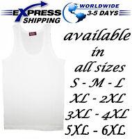 %100 Egyptian Cotton Top Tank Men Underwear Undershirt Vest Sleeveless T-Shirt
