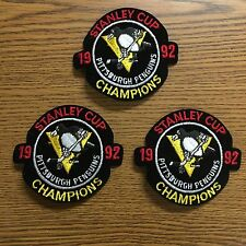 (3) Lot Of 1992 Pittsburgh Penguins Stanley Cup Patches