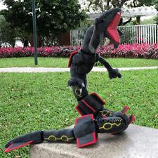 "Black Shiny Rayquaza 32"" Plush Dragon Stuffed Toy Cartoon Soft Doll"