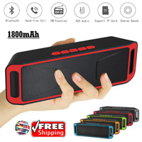 Bluetooth Stereo Bass Wireless Speaker Indoor/Outdoor USB/TF Radio FM Portables
