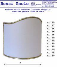 Paralume classico ventola semitonda per lampada tradizionale - made in Italy