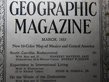 National Geographic - March, 1953 Back Issue