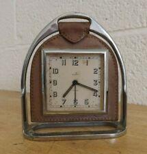 Vintage Eldonian Art Deco Style Horse Stirrup Alarm Clock (Smiths). (Hospiscare)