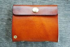 Small Custom Made Leather Fly Wallet For Fly Fisherman