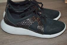 Sehr bequeme Damenschuhe Sneakers vonCLARKS gr 39,5/24,5 cm schwarz nubuck leder