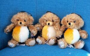 """Lot Of 3 NWT Ltd Ed New 6"""" Merrythought Cheeky Beach Ball Mohair Teddy Bear"""