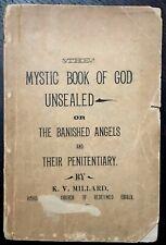 MYSTIC BOOK OF GOD UNSEALED - 1st 1897 GOD DIVINE MANKIND CHERUBIM ANGELS BIBLE