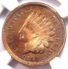 1864 Copper-Nickel Indian Cent 1C Penny - NGC Uncirculated Details (UNC MS)!