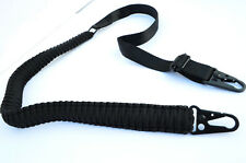 Tactical 550 Paracord Rifle Gun Sling 2 Point Hunting Airsoft Shotgun (Black)