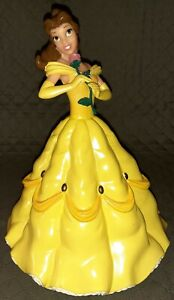 TOY Disney BELLE Coin Bank Yellow Dress Figure Beauty & The Beast Piggy Money