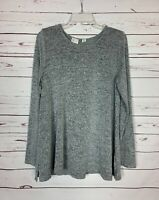 Postmark Anthropologie Women's L Large Gray Grey Long Sleeve Cute Soft Top Shirt