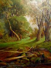 WILLIAM ARTINGSTALL;ANTIQUE ORIGINAL OIL;S;1878;BRITISH;FOREST;ENGLAND;LISTED-NR