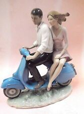 Riding With You - Male Female Couple Porcelain Figurine By Lladro 2016 #9231