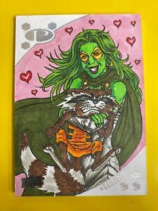 D50141 2017 Upper Deck Marvel Premier Alex Kotkin Gamora Sketch SKETCH card 1/1
