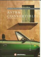 VAUXHALL ASTRA CONVERTIBLE 1.6i MANUAL,1.6i AUTO & 1.8i SALES BROCHURE 1996