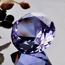 40mm Purple Cut Glass Crystal Diamond Paperweight Wedding Favor Gift Venue Decor