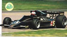 1977 / 1978 LOTUS 78 F1 Formula One F-1 JPS Andretti SPEC SHEET / Brochure