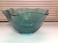 Vintage Tiara Exclusives Sandwich Spruce Serving Bowl Indiana Glass Crimped Rim