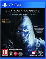 PS4 Mittelerde: Mordors Schatten Game of the Year Edition Playstation 4 NEU&OVP