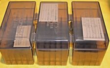 BERRY'S PLASTIC AMMO (3) 50 Round Storage Boxes For 30-06 Rifle FREE SHIPPING