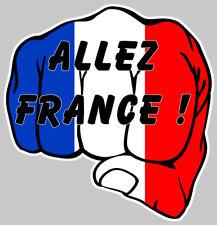 POING FERME FRANCAIS STICKER ALLEZ FRANCE 12cm AUTOCOLLANT AUTO (AA147)