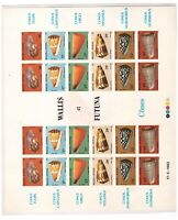Wallis  Futuna  SHELLS  MNH 1983 Presentation sheet on cardboard  s14229
