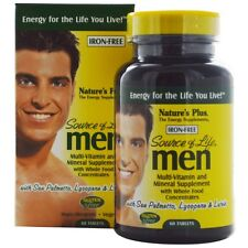 Nature's Plus, Source of Life Men, Multi-Vitamin and Mineral Supplement, Iron-Fr