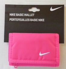 NIKE Adult Unisex Basic Tri-Fold Wallet Color Pink/White New