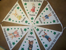 Handmade Personalised Peter Rabbit bunting / party decoration / birthday