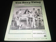 You Sexy Thing Hot Chocolate 1975 Sheet Music Score Lyrics