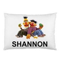 SESAME STREET ERNIE AND BERT Personalized childrens kids BED pillow case