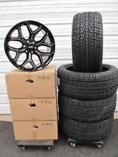 "22"" New Chevrolet Tahoe Gloss Black Milled Wheels 5668 Tires Nexen 3054022 4"
