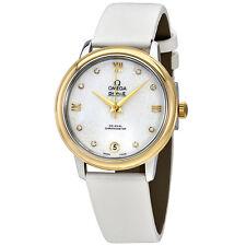 Omega De Ville Prestige Mother of Pearl Butterfly Dial Ladies Watch