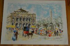 """Urbain Huchet """" Paris """" Original Lithograph Hand Signed 20 / 50 HC Edt"""