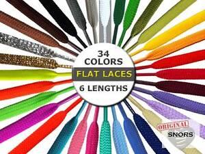 SHOELACES FLAT LACES - 33 Colors - 6 Lengths - 2 widths - Replacement shoelaces