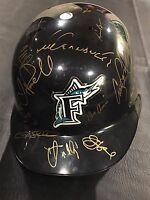 1997 FLORIDA MARLINS World Series Team Auto Signed Authentic ABC Batting Helmet