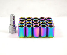 NNR Steel Inner Hex Wheel Lug Nuts Open Ended Neo Chrome 32mm 12x1.5 20pcs