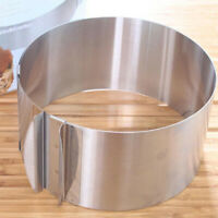 Adjustable Stainless Steel Mousse Cake Ring Mold Layered Baking 6/12 Inch