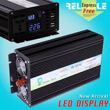 1000W Power Pure Sine Wave Inverter DC 12/24/48V to AC 220V/230V LED Disply