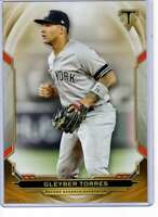 Gleyber Torres 2019 Topps Triple Threads 5x7 Gold #85 /10 Yankees